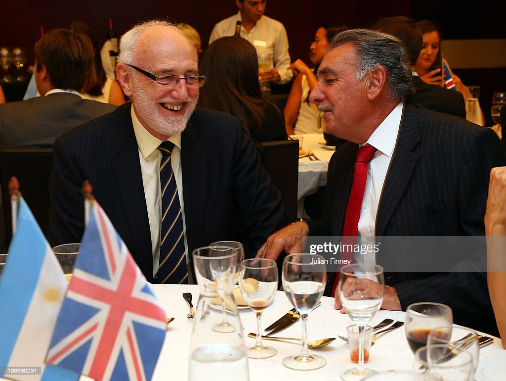 The LTA President Peter Bretherton enjoys himself at the team dinner during previews ahead of the Fed Cup World Group Two Play-Offs between Argentina and Great Britain at Parque Roca on April 18, 2013 in Buenos Aires, Argentina.