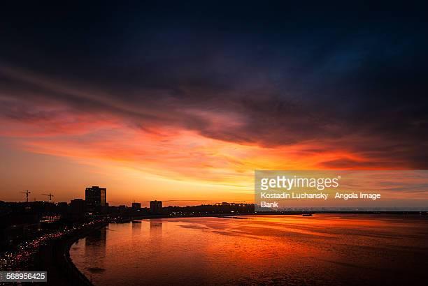 The Luanda waterfront at sunset