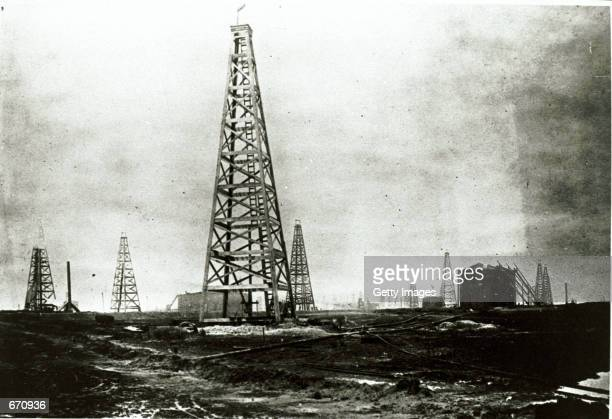 The Lucas Derrick named after Anthony F Lucas stands atop Spindletop Hill in Beaumont Texas Beaumont was the sight of Texas's first oil gusher...