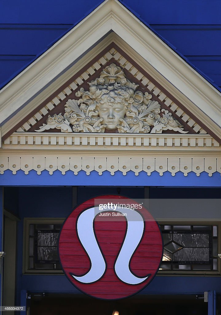 The Lululemon logo is displayed on the front of its retail store on September 12 2014 in San Francisco California Athletic clothing retailer...