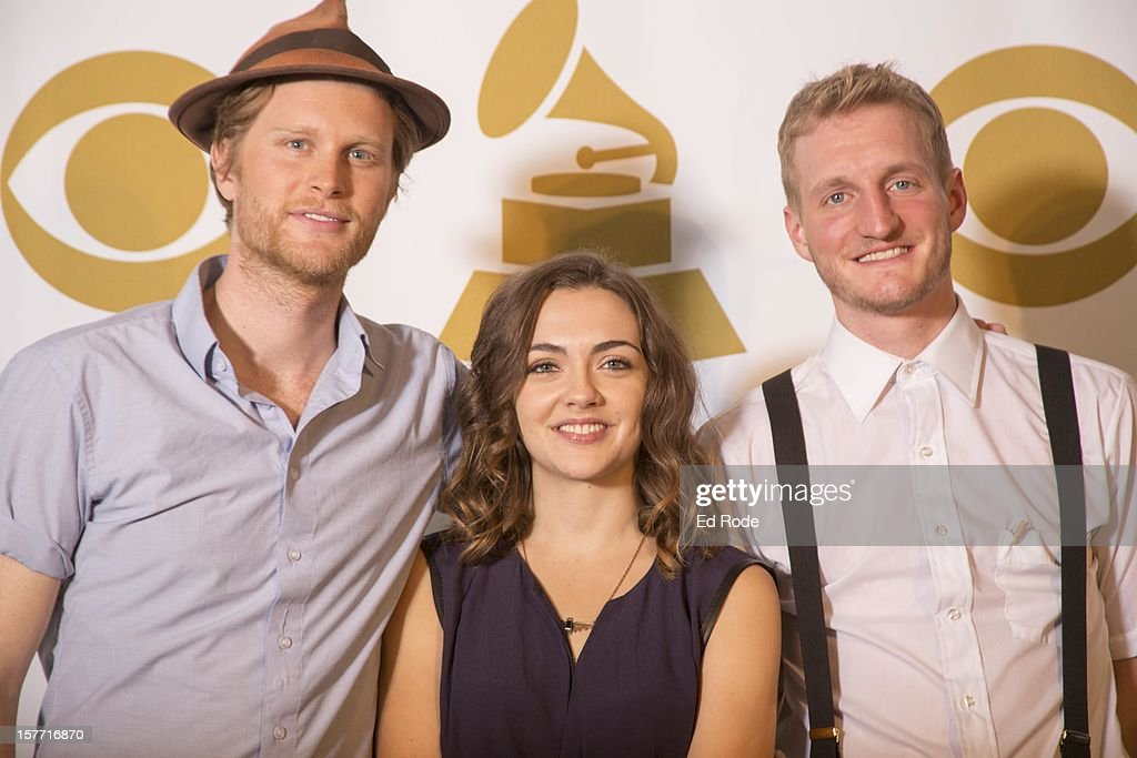 The Lumineers' Neyla Pekarek and Jeremiah Fraites and Wesley Schultz attend The GRAMMY Nominations Concert Live!! at Bridgestone Arena on December 5, 2012 in Nashville, Tennessee.