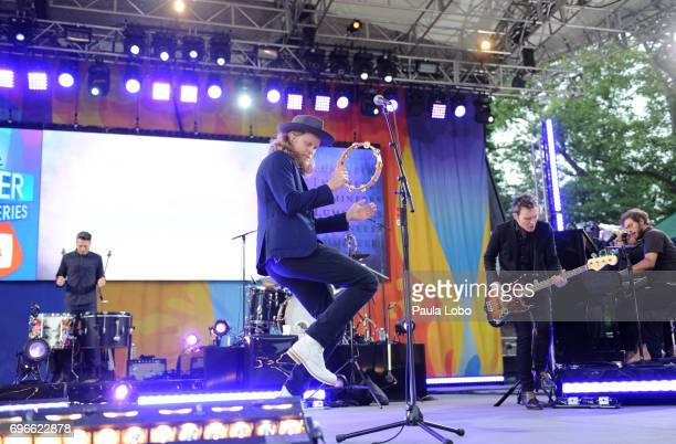AMERICA The Lumineers perform live from Central Park as part of the Summer Concert Series on 'Good Morning America' Friday June 16 airing on the ABC...
