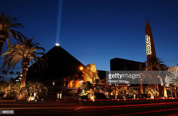 The Luxor Hotel and Casino is seen on May 30 2002 in Las Vegas Nevada