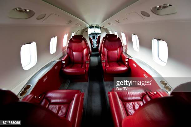 The Luxurious Interior of a Private Plane