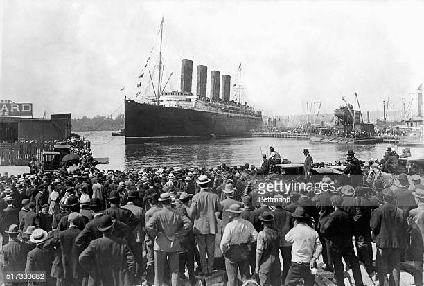 The luxury ocean liner Lusitania left on her last voyage from New York May 1 1915 Six days later on May 7 1915 she sinks in 18 minutes after being...