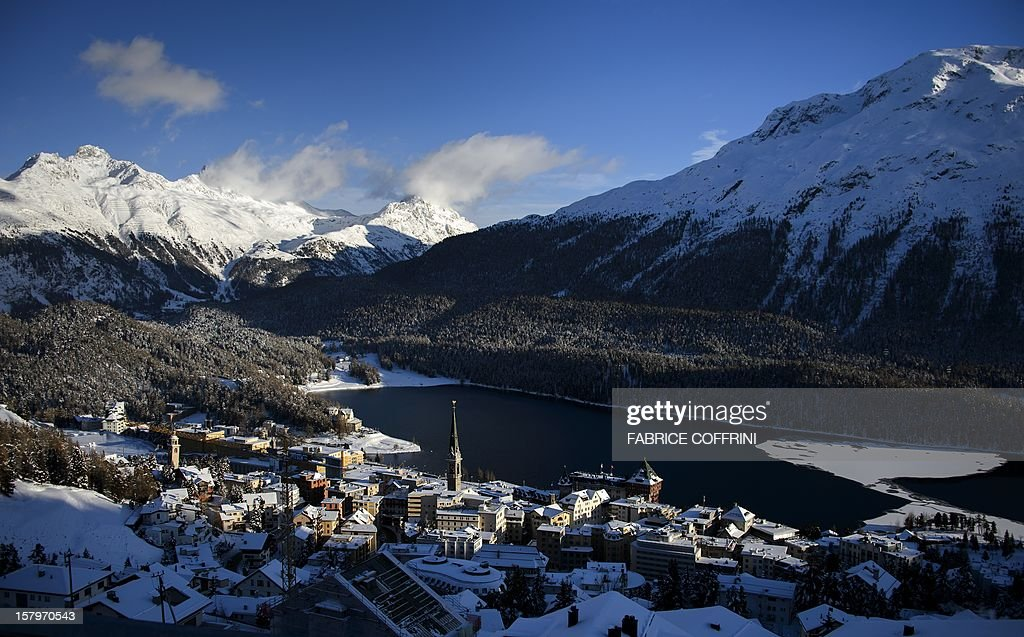 The luxury ski resort of St.Moritz is seen on December 8, 2012. Switzerland's Olympic committee is backing a joint bid from the luxury Alpine resorts of Davos and St Moritz to host the 2022 Winter Games. A final decision on a candidature is expected next March 2013, when voters of Graubuenden canton will have a say in the plans. St. Moritz last hosted the Winter Olympics back in 1948 and once before in 1924.