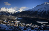 The luxury ski resort of StMoritz is seen on December 8 2012 Switzerland's Olympic committee is backing a joint bid from the luxury Alpine resorts of...