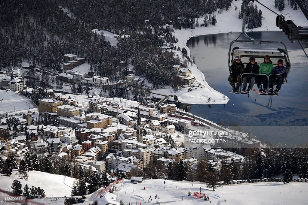 The luxury ski resort of St.Moritz is seen on December 9, 2012. Switzerlands Olympic committee is backing a joint bid from the luxury Alpine resorts of Davos and St Moritz to host the 2022 Winter Games. A final decision on a candidature is expected next March 2013, when voters of Graubuenden canton will have a say in the plans. St. Moritz last hosted the Winter Olympics back in 1948 and once before in 1924.