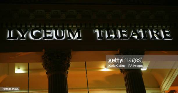 The Lyceum Theatre in London's West End currently showing The Lion King