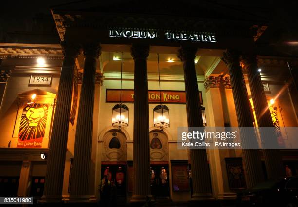 The Lyceum Theatre in London's West End currently showing 'The Lion King'