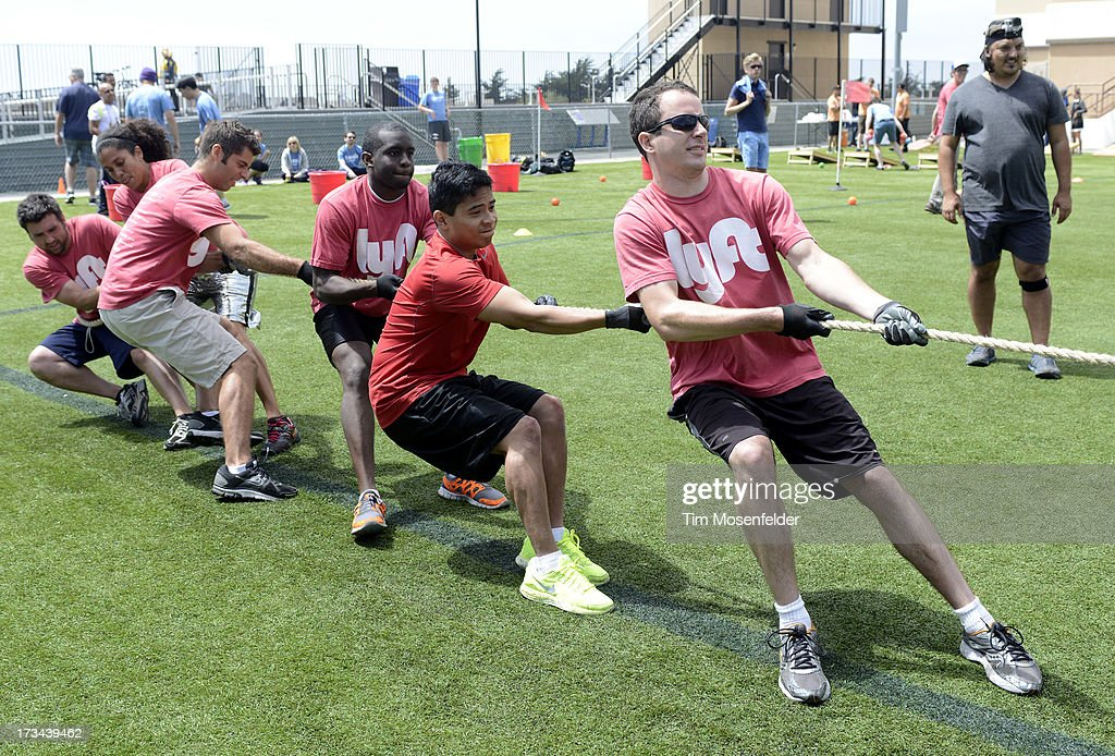 The Lyft Team competes at the Founder Institute's Silicon Valley Sports League on July 13, 2013 in San Francisco, California.