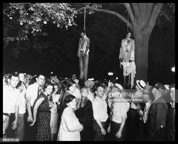 The lynching of African Americans Thomas Shipp and Abram Smith Marion Indiana 1930