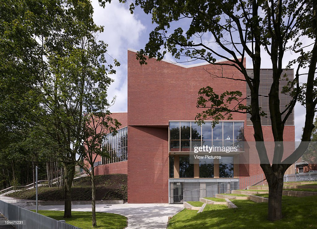 The Lyric Theatre, O'Donnell And Tuomey, Belfast, Northern Ireland, 2011, Sunlit View Of South Elevation With Landscaped Garden Area, Odonnell And Tuomey, United Kingdom, Architect,