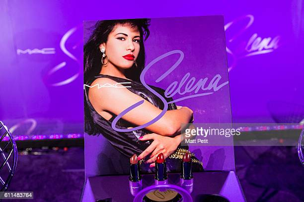 The MAC Selena Collection on display before the MAC Selena World Premiere on September 29 2016 in Corpus Christi Texas
