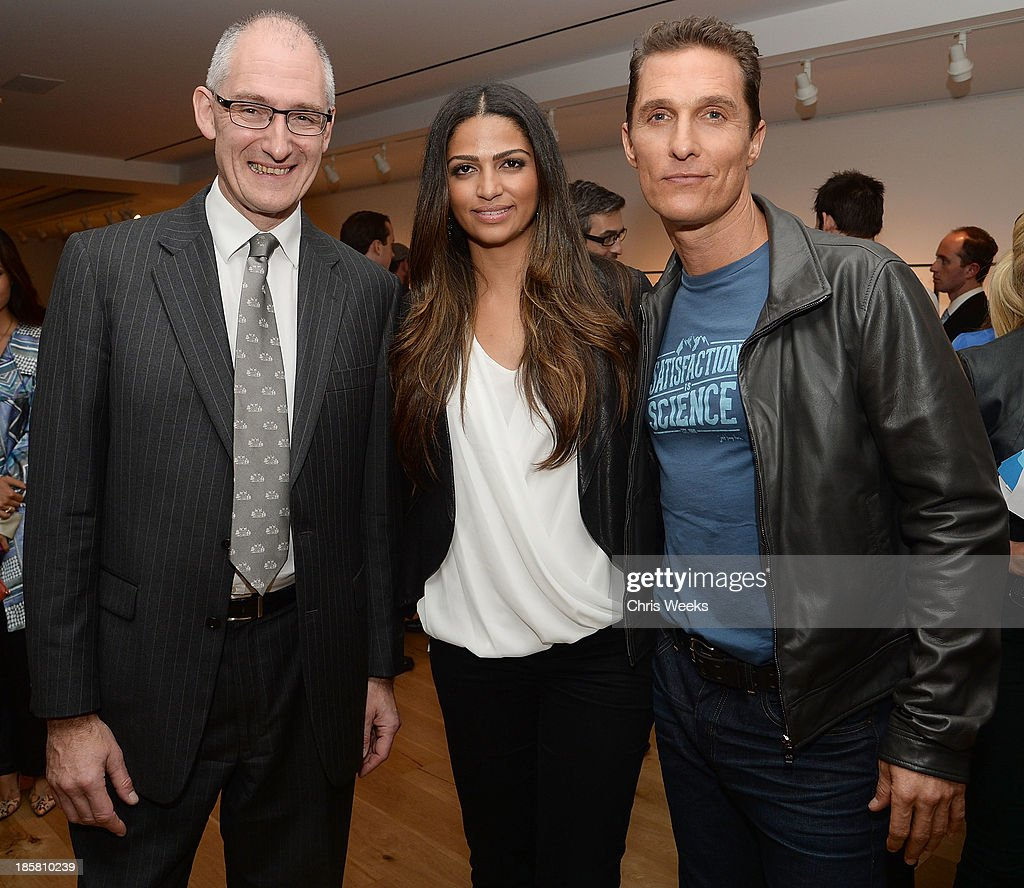 The Macallan director Ken Grier, model <a gi-track='captionPersonalityLinkClicked' href=/galleries/search?phrase=Camila+Alves&family=editorial&specificpeople=4501431 ng-click='$event.stopPropagation()'>Camila Alves</a> and actor <a gi-track='captionPersonalityLinkClicked' href=/galleries/search?phrase=Matthew+McConaughey&family=editorial&specificpeople=201663 ng-click='$event.stopPropagation()'>Matthew McConaughey</a> attend The Macallan Masters of Photography: Elliott Erwitt at Leica Gallery Los Angeles on October 24, 2013 in Los Angeles, California.
