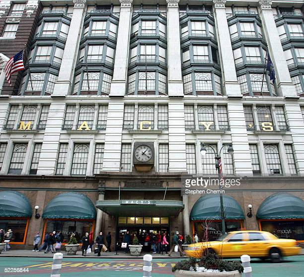 The Macy's Herald Square entrance is seen February 28 2005 in New York City Federated Department Stores Inc is buying rival May Department Stores Co...