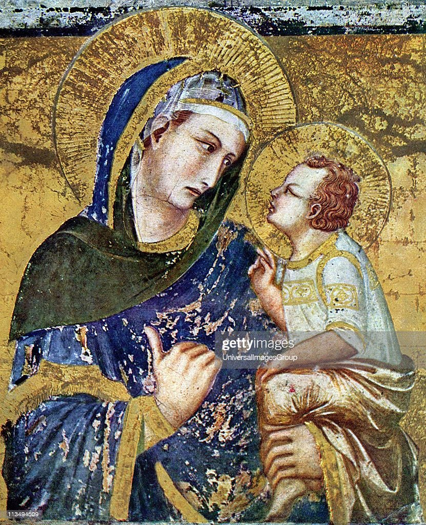 The Madonna dei Tramonti is a 1330 Madonna fresco by the Italian artist Pietro Lorenzetti. It is located in the Basilica of San Francesco d'Assisi, in Assisi, Italy. Pietro Lorenzetti (or Pietro Laurati: c. 1280 - 1348) was an Italian painter, active between approximately 1306 and 1345