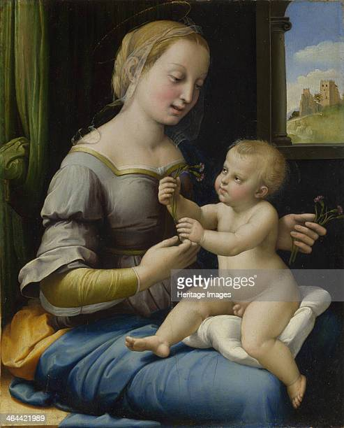 The Madonna of the Pinks ca 15061507 Found in the collection of the National Gallery London