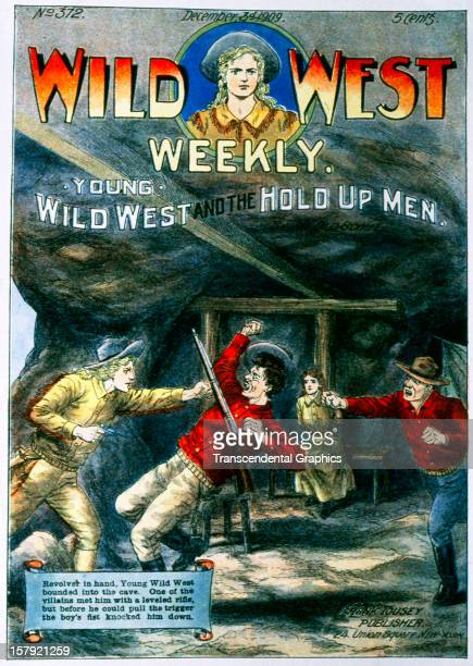 The magazine Wild West Weekly features a mining adventure scene in an issue published December 3 1909 in New York City