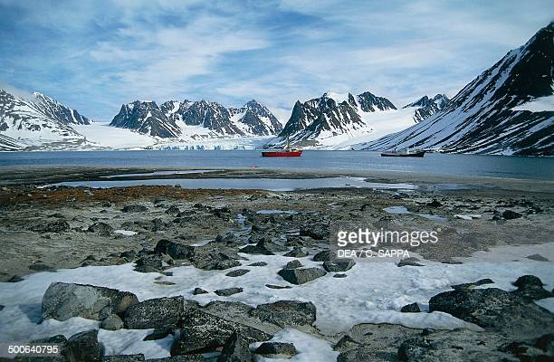 The Magdalenefjorden on the west coast of Spitsbergen island Svalbard archipelago Norway
