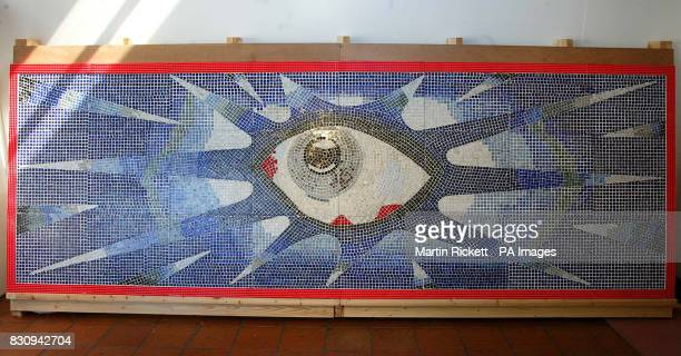The Magic Eye mosaic designed by Beatles legend John Lennon for his swimming pool It has been restored by Tom Lorimer and is on display in The Museum...
