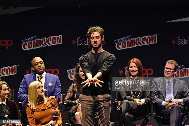 CON 'The Magicians Panel' Pictured Stella Maeve Rick Worthy Olivia Taylor Dudley Hale Appleman EP Sera Gamble EP John McNamara