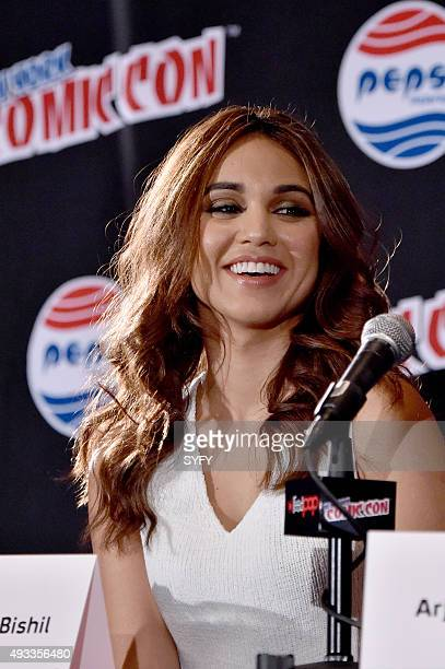 CON 'The Magicians Panel' Pictured Summer Bishil