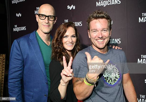 DIEGO 'The Magicians Party at Hotel Solamar' Pictured Christopher Heyerdahl Kelly Overton Jonathan Scarfe