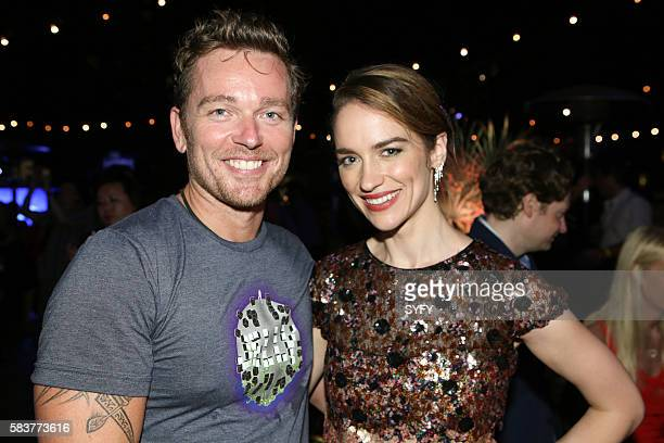 DIEGO 'The Magicians Party at Hotel Solamar' Pictured Jonathan Scarfe Melanie Scrofano