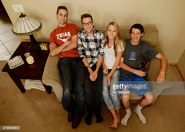 The Magoon quadruplets from left Mitch Mike Maddie and Matt at their home in Aurora recently turned 18yearsold and are all graduating from Grandview...