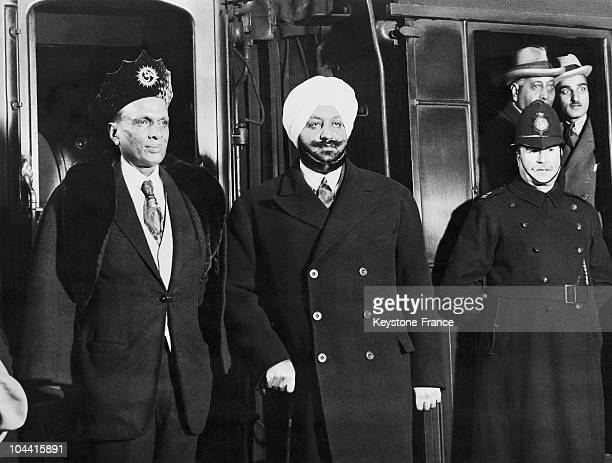 The Maharajas of Alwar and of Patiala is ready to leave England at Waterloo Station in London January 20 1931