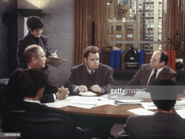 SEINFELD 'The Maid' Episode 19 Pictured # Daniel Von Bargen as Kruger unknown Chip Chinery as CoWorker Jason Alexander as George Costanza