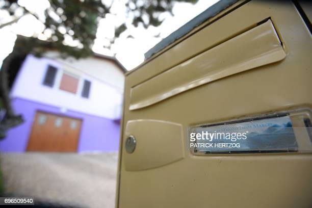 The mailbox of Marcel and Jacqueline Jacob is pictured outside their house in Aumontzey on June 16 2017 French police investigating the 1984 killing...