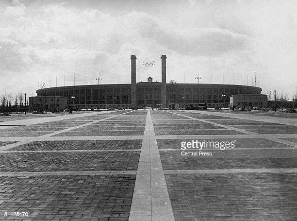 The main approach to the Olympic Stadium in Berlin host to the 1936 Olympic Games