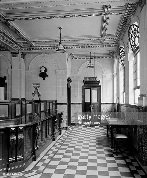 The main banking hall at the National Bank Baker Street Westminster London 1926