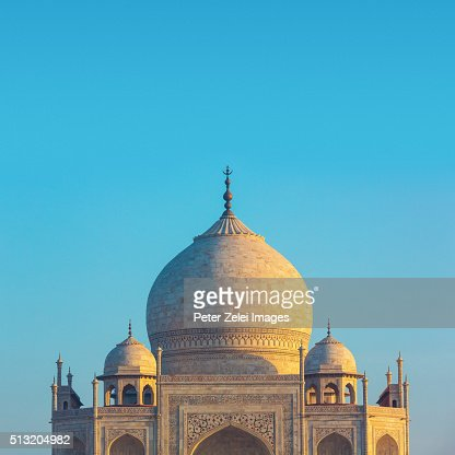 The main building of the Taj Mahal in Agra, India