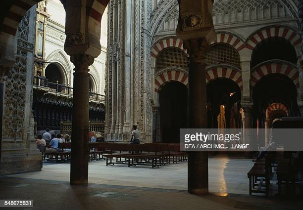 The Main Chapel inside the Great Mosque of Cordoba now St Mary's Cathedral Andalucia Spain 8th16th century