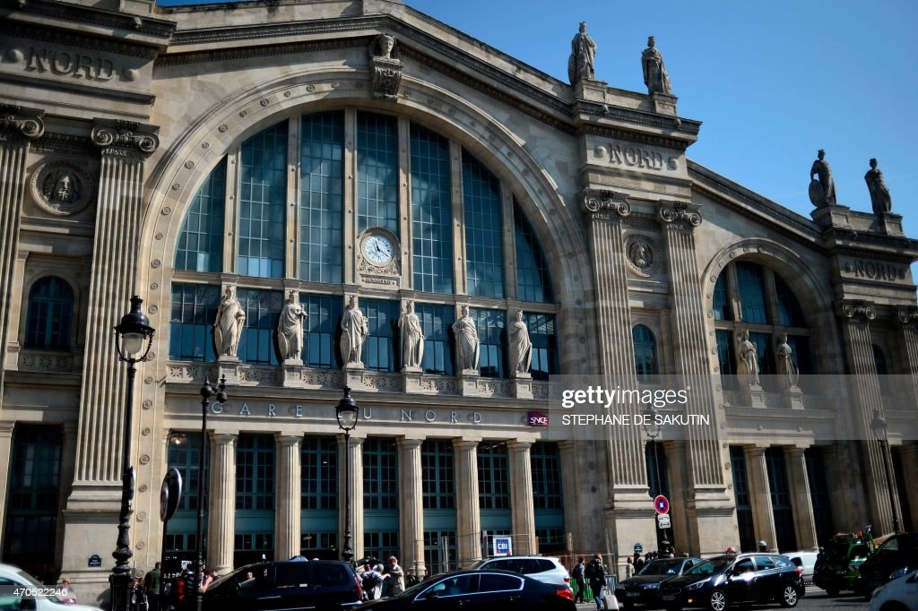 The main entrance of Paris' Gare du Nord train station is pictured on April 21 2015 in Paris AFP PHOTO / STEPHANE DE SAKUTIN