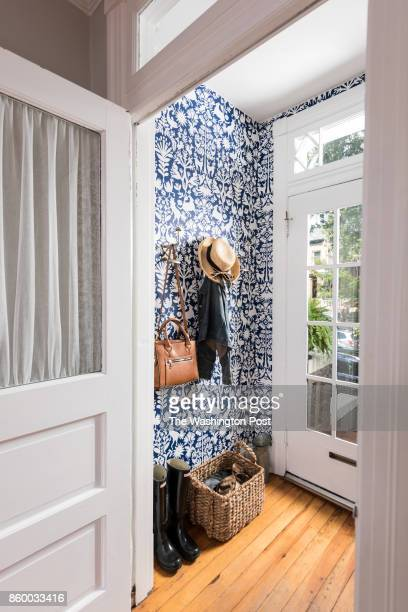 The main entrance of the Hoburg family's renovated Capitol Hill rowhouse on July 26 2017 A Washington family makes a modest 100yearold three bedroom...