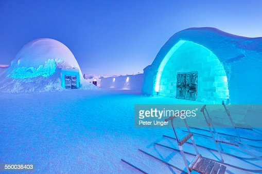 The main entrance of the Ice hotel, Jukkasjarvi