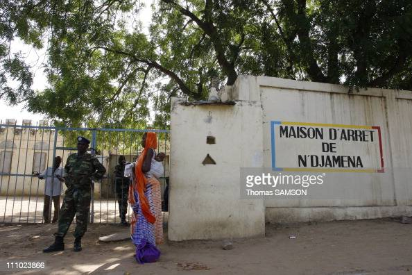 The main entrance of the jail in N'Djamena Chad on November 13rd 2007
