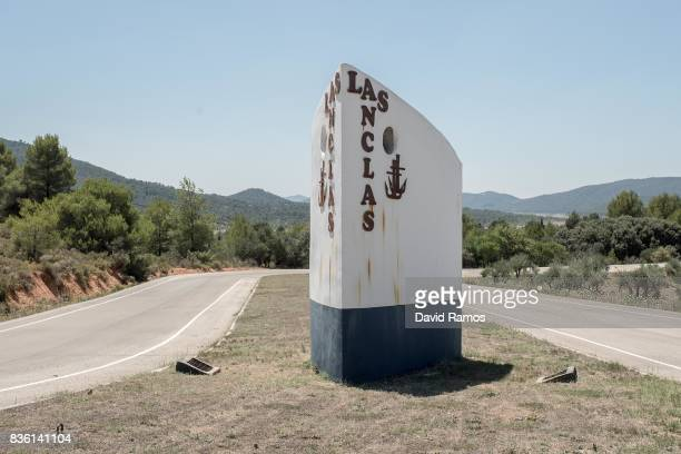 The main entrance of the Las Anclas estate is seen on the Entrepenas reservoir side second largest water reservoir feeding the Segura River and...