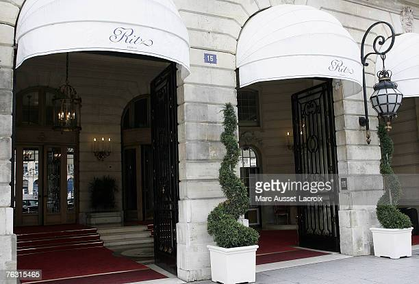 The main entrance of the Ritz Hotel in Paris on August 22 where Diana Princess of Wales spent her last few hours with Dodi Al Fayed before their...