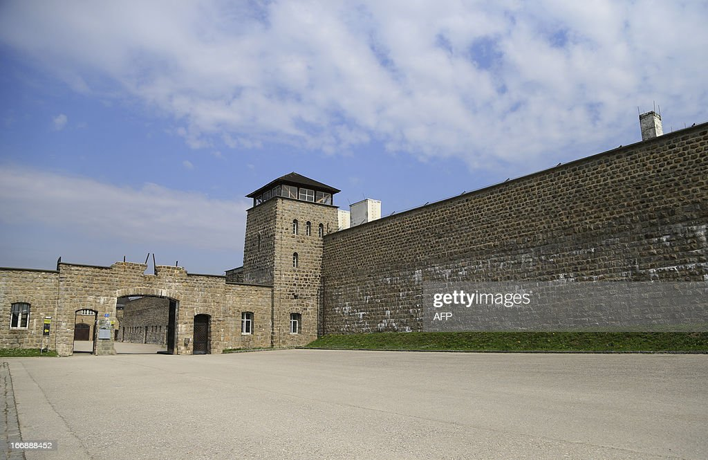 The main entrance of the World War II concentration camp of Mauthausen is seen, on April 17, 2013.