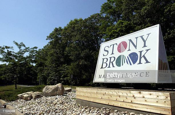 The main entrance to State University of New York at Stony Brook is shown July 12 2002 in Stony Brook New York Scientists there say they have...