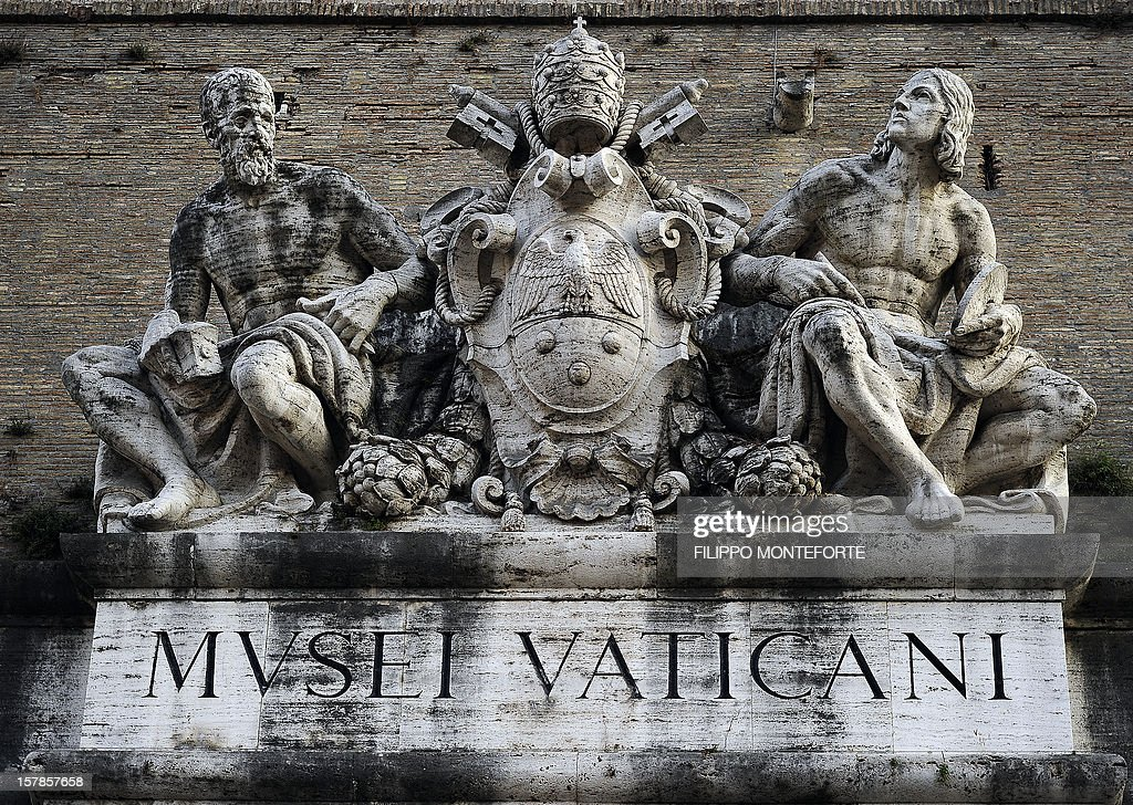 The main entrance to the Vatican Museum is pictured at the Vatican on October 15 2010 AFP PHOTO / Filippo MONTEFORTE