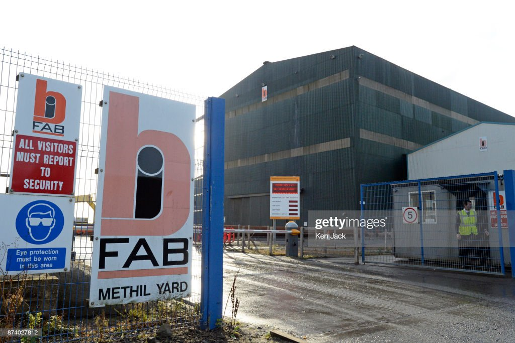 The main gate at the Methil yard of engineering company BiFab, as the company faces the possibility of going into administration because of difficulties with a major contract, on November 14, 2017 in Methil, Scotland. Unions say staff have agreed to a 'work-in' - continuing to work to progress the orders in hand even though they may not be paid.