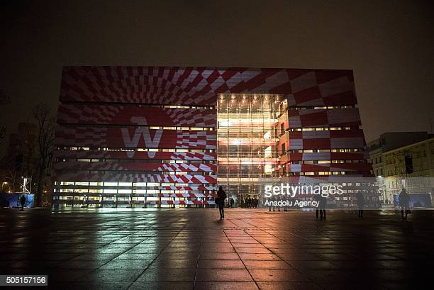 The main hall of National Forum of Music is seen prior to NFM Symphony Orchestra concert within the Inauguration of European Capital of Culture 2016...