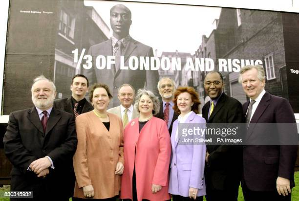 The main London mayoral candidates at the launch of a poster campaign promoting Operation Black Vote which encourages participation in the London...