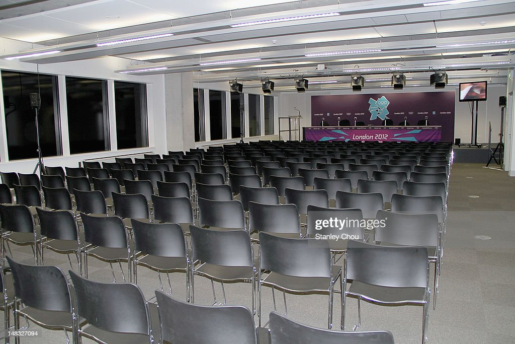 The Main Press Conference Room is located on the first floor of the Main Press Centre at Olympic Park on July 14 2012 in London England